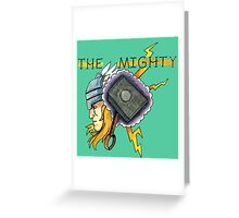 The Mighty Thor Tattoo Flash Greeting Card