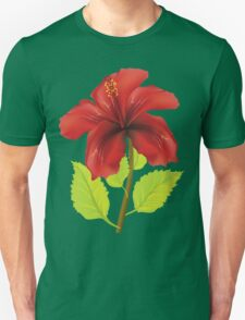 Red hibiscus 2 T-Shirt