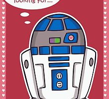 R2D2 Valentine's Day card by beckadoodles