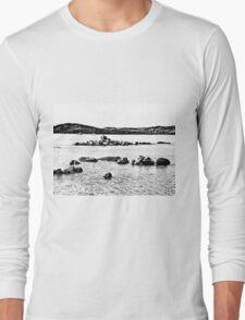 Island Caprera: sea landscape and rock Long Sleeve T-Shirt