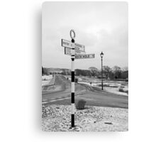 Pointing the Way, Goathland Signpost Canvas Print