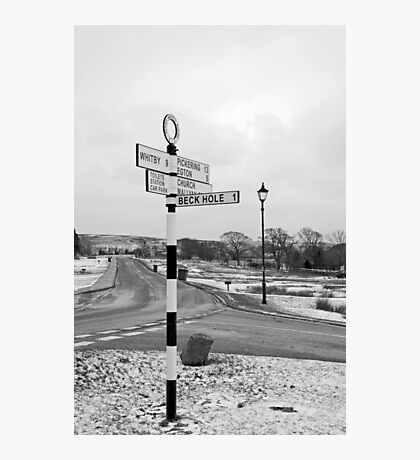 Pointing the Way, Goathland Signpost Photographic Print