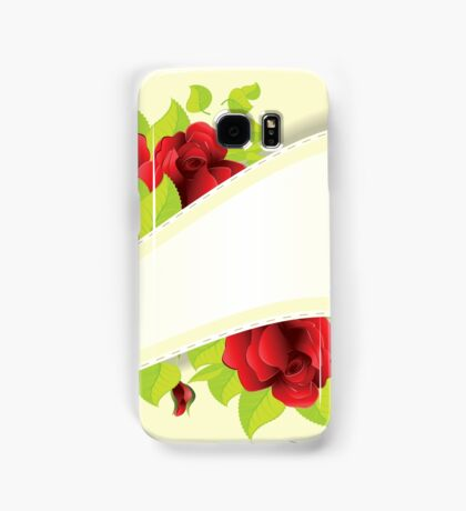 Red roses and ribbon Samsung Galaxy Case/Skin