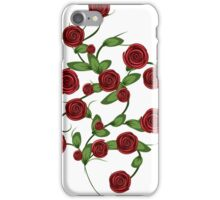 Red roses ornament iPhone Case/Skin