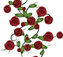 Red roses ornament by AnnArtshock