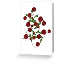 Red roses ornament Greeting Card