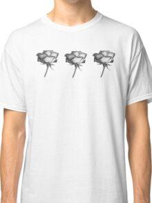 Black n White roses Classic T-Shirt