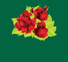 Red roses with leaves  Unisex T-Shirt