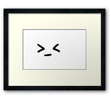 Grr Smiley kawaii cute Framed Print