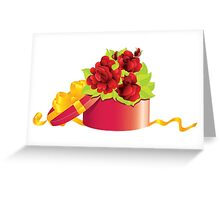 Roses in gift box Greeting Card
