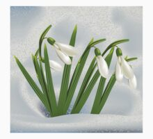 Snowdrops in snow Kids Clothes