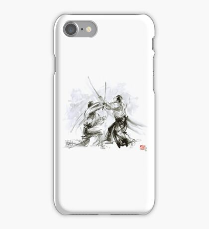 Mens gift ideas, aikido martial arts, ink drawing large poster iPhone Case/Skin