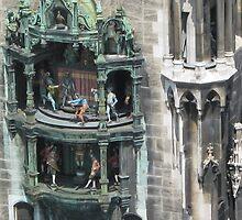 Munich Rathaus Clock Figures by blueclover