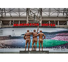 The United Trinity, Old Trafford Photographic Print