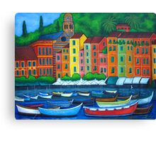 Portofino Colours Canvas Print