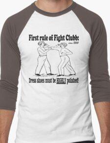 First Rule of Fight Clubb Men's Baseball ¾ T-Shirt
