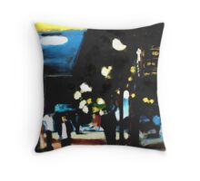 Parkade in Blue Throw Pillow