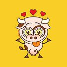 Cute cow falling madly in love by Zoo-co
