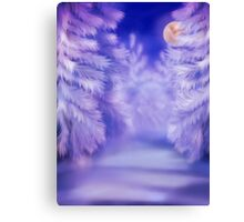 White winter forest Canvas Print