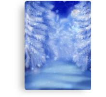 White winter forest 2 Canvas Print