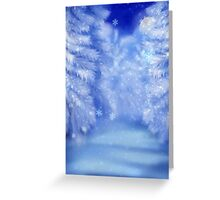 White winter forest 2 Greeting Card