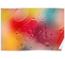 Hubble Bubble Oil and Water Poster