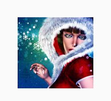 Winter girl in red outfit Unisex T-Shirt