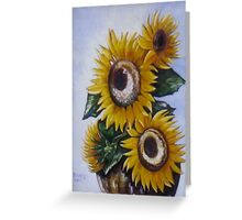 Sunflowers in Urn Greeting Card
