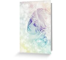 Winter girl portrait Greeting Card