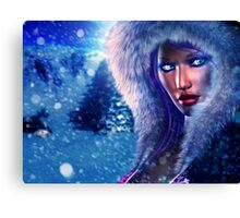 Winter girl portrait 2 Canvas Print