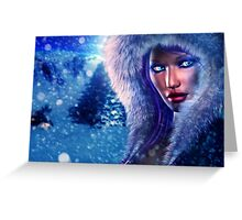 Winter girl portrait 2 Greeting Card