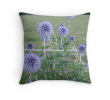 Echinops time Throw Pillow