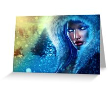 Winter girl portrait 3 Greeting Card