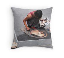 Pavement Artista Throw Pillow