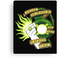 Green Lantern Tattoo Flash Canvas Print