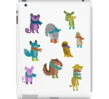 sad and indifferent animals wearing scarves iPad Case/Skin
