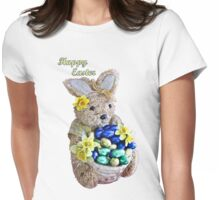 Happy Easter Bunny Womens Fitted T-Shirt