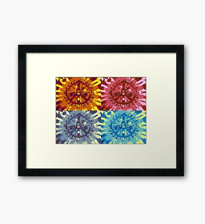 Peaceful Collage Framed Print