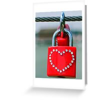 Pad lock Heart Greeting Card
