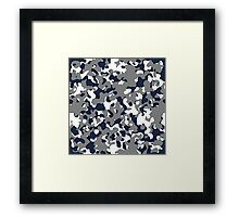 Blue & Gray Camo Design #2 Framed Print