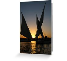 Sunset on Nile Greeting Card