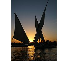Sunset on Nile Photographic Print