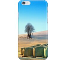 Hay bales in winter wonderland | landscape photography iPhone Case/Skin