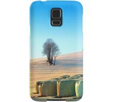 Hay bales in winter wonderland | landscape photography Samsung Galaxy Case/Skin