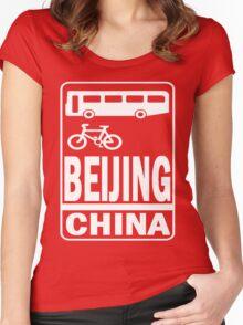 BEIJING Women's Fitted Scoop T-Shirt
