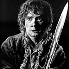 Bilbo Baggins Scratchboard by LKBurke29