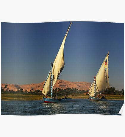 Fishing on Nile Poster