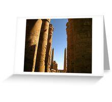 Pillars of history Greeting Card