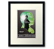 Sherlock: Series Three Framed Print
