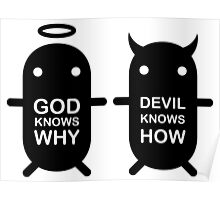 GOD KNOWS WHY & DEVIL KNOWS HOW Poster